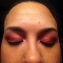My pinkish purple eye look tonight something different going out;)