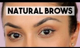 NATURAL EYEBROW TUTORIAL USING BEST BROW PRODUCT EVER! - TrinaDuhra