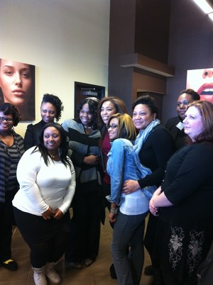 Tippi Shorter came to my cosmetology school...so happy we got to meet her!