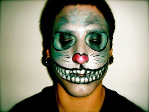 more halloween work. ex as tim burtons cheshire cat.