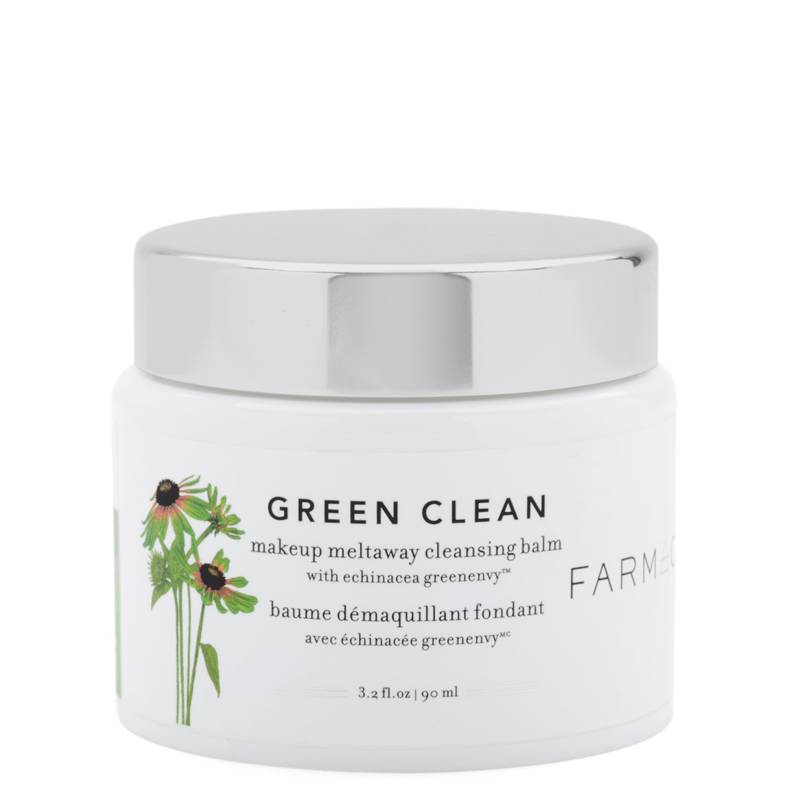 Farmacy Green Clean Makeup Meltaway Cleansing Balm 3.2 oz product smear.