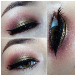 I had so much fun creating this look, I just love this color combination.