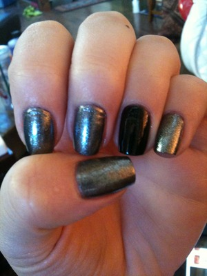 """OPI Lucerntainly Look Marvelous  OPI """"Goth Mini"""" Unripened  China Glaze Fast Forward Top Coat"""