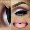 Bold eyeliner and ombre lips
