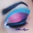 Cotton candy. Pink and Blue