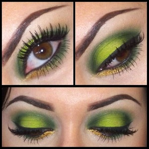 My green makeup from St. Patrick's day!