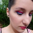 Captain America inspired make up