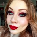 Black Cherry Inspired Red Glittery Makeup Tutorial