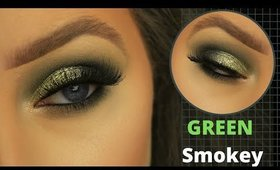 EASY METALLIC GREEN SMOKEY EYE FOR BEGINNERS | EIMEAR MCELHERON