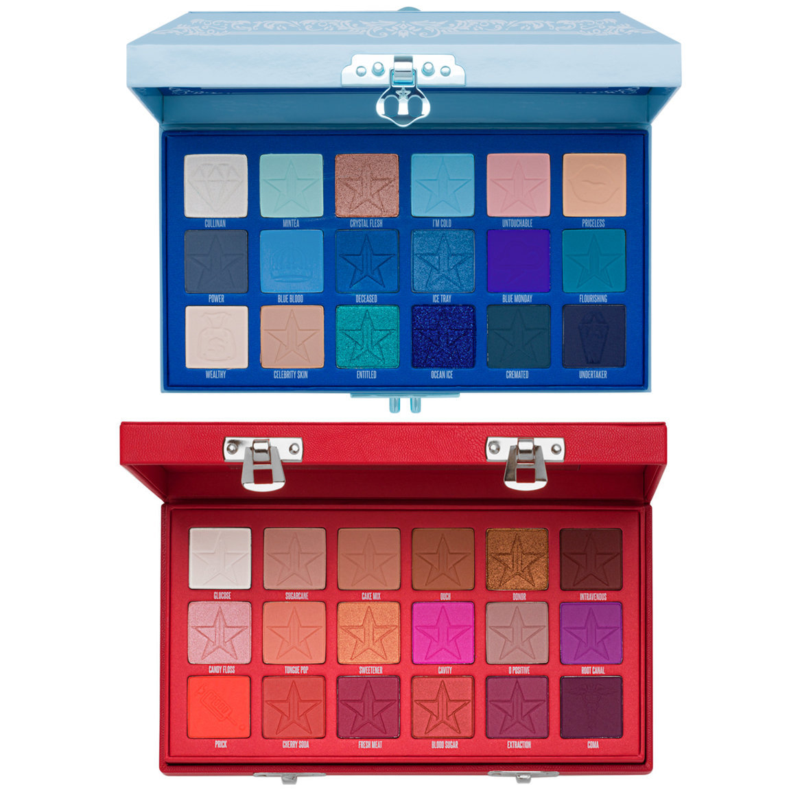Jeffree Star Cosmetics Blue Blood & Blood Sugar Eyeshadow Palette Bundle alternative view 1 - product swatch.