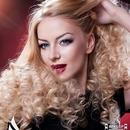 gold smokey+ curly blonde