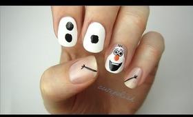 Disney Frozen Nail Art: OLAF!
