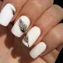 White <3 Feather