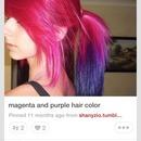 Pink&purple ponytail