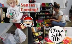 CLEAN WITH ME|Toy Cleaning/Purging|Christmas Prep|SAHM
