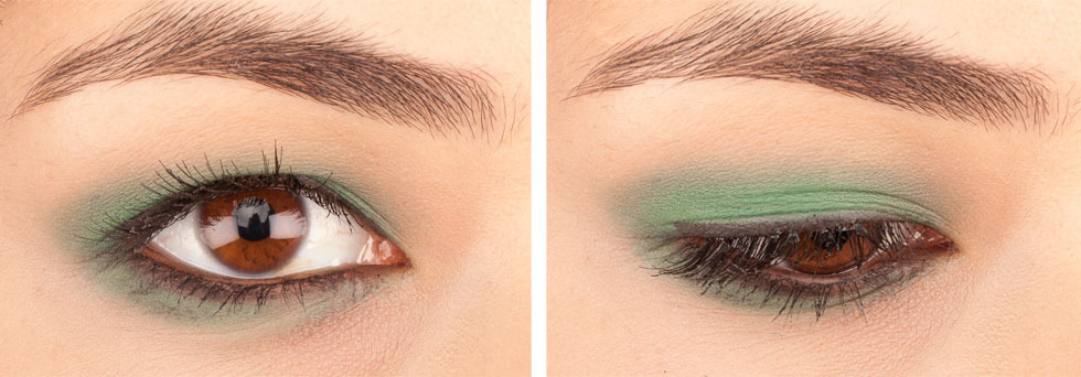 Green Eyeshadows: Inglot Shadow Matte in 385