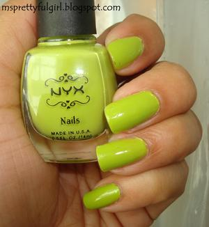 NYX Nails in Lime http://msprettyfulgirl.blogspot.com/2011/10/finger-painting-lime.html