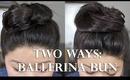 Two Easy Ways to Create a Ballerina Bun