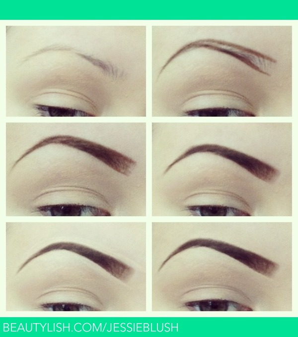 Eyebrow tutorial jessica b s jessieblush photo beautylish