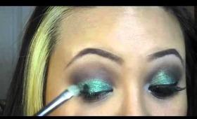 Tutorial: Emeralds and Amethyst Eye Makeup