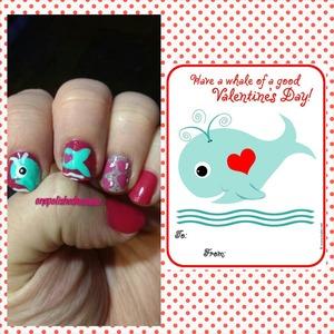 my valentines mani