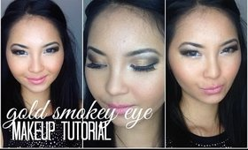 Gold Smokey Prom Makeup Tutorial w/ lx3bellexo