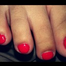 orange toes with flower accent!!