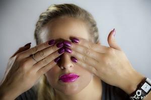 GEL Nails.. Stage Line Lipstick.