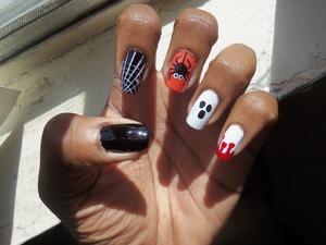 simple halloween nail art, super cute!
