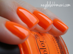 Color Club Koo-Koo Cachoo, neon orange polish.