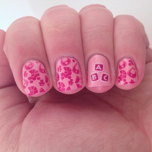 If you'd like to learn how I did the two color stamping w the ABC blocks, check out http://polishmeplease.wordpress.com :)