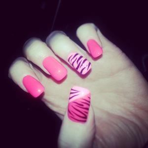 a pink zebra!