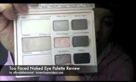 Too Faced Naked Eye Palette Review