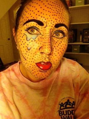 Crying lady pop art.