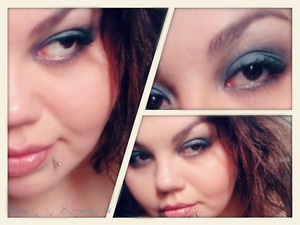 A blue smoky look with the darkest shade from the Inspired palette mixed with Neptune Star