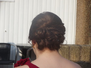 my amazing neighbour/ hairdresser  did my hair for prom <3