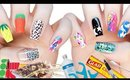 10 DIY Nail Art Designs Using HOUSEHOLD ITEMS! | The Ultimate Guide #3