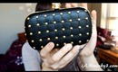 JustFab Afterglow Black Clutch Review & Giveaway (Season of Giving Project)