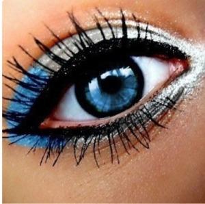 Combinación de colores para los ojos azules