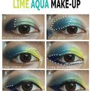 Lime Aqua Makeup