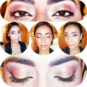 A feminine Summery Make-Up look. For more details check out my blog: http://jennieleesmagicandmakeup.blogspot.com/2014/06/soft-feminine-pink-and-gold-eyes.html