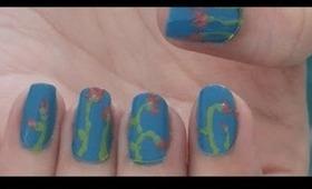 Spring Blossom - Floral Nails Tutorial - Strangekitty.ca