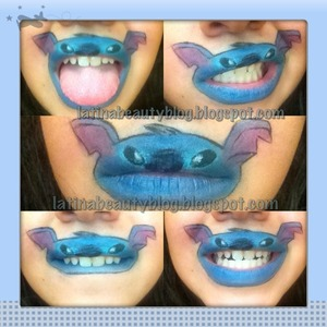 Just a few funny faces with my stitch lips :)