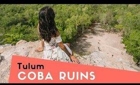 COBA RUINS + LOSING THE DRONE   Mexico Vlog Day 2