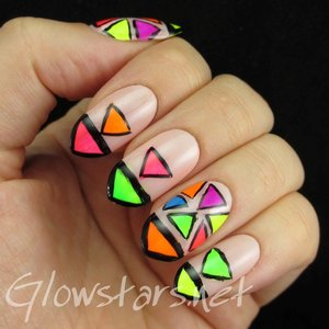 Read the blog post at http://glowstars.net/lacquer-obsession/2014/10/neon-triangles/