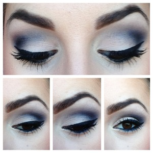Navy shadows to make brown eyes pop!