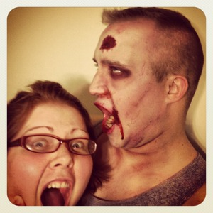 Is this love or what my awesome husband let me turn him into a zombie when I was feeling down one night :)
