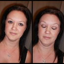 evening make up on older client