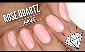 Rose Quartz Nail Art Tutorial // TREND ALERT