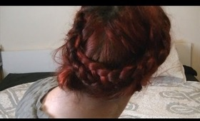 Messy braided updo - Quick and easy!